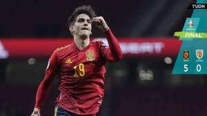 España goleó a Rumanía y será cabeza de serie