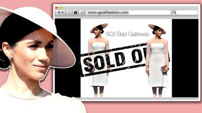Meghan reaparece tras la boda y 'rompe' internet con un vestido de 800 dólares (👗 sold out)