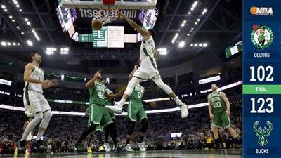 Los Bucks cobran revancha y aplastan a los Celtics en el Juego 2