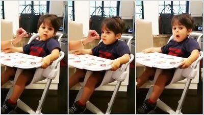 ¿Qué está comiendo MVP? Mira cómo disfruta el hijo de Lourdes Stephen su fruta favorita