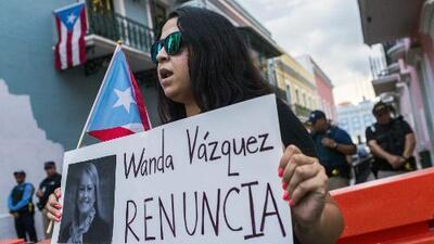 Continúa el descontento y las manifestaciones en Puerto Rico luego de que Wanda Vázquez juramentara como gobernadora