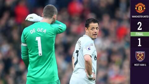 Chicharito y el West Ham no pudieron con el Manchester United