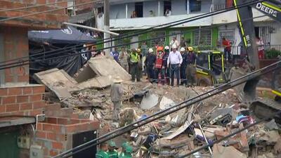 Investigan el derrumbe de un edificio de tres pisos en Medellín que cobró la vida de tres personas