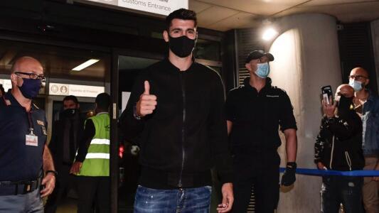Aterriza Álvaro Morata en Turín