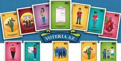 VOTEriaAZ es la innovadora campaña para promover el voto con tarjetas de la lotería mexicana
