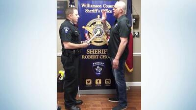 WWE star was sworn in as a Texas deputy