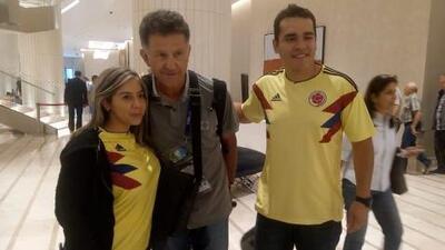 Juan Carlos Osorio 'visitó' concentración de Colombia en Moscú