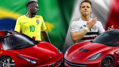 Brasil vs México: ¿Cuál de estas selecciones tiene los mejores carros?