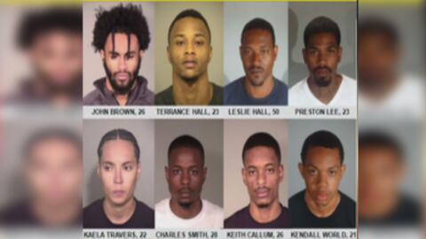 Arrestan a ocho presuntos miembros de una red de robos en Los Ángeles y Ventura