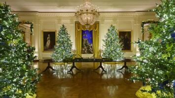 Un vistazo a la última decoración navideña de Melania Trump en la Casa Blanca