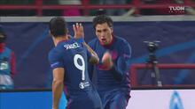 ¡Asistencia de 'HH' y gol! Giménez pone el 0-1 de cabeza del Atlético
