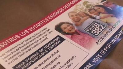 Por qué critican los volantes de publicidad utilizados para la campaña de 'Alcalde Fuerte' en Miami