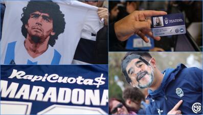 En fotos: Maradona es presentado oficialmente como entrenador de Gimnasia