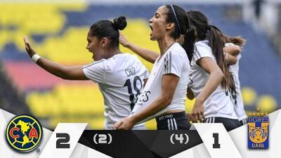 Tigres eliminó a las Águilas y llegó primero a la final de la Liga MX Femenil