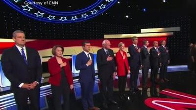 Progressives and moderates face off in Democratic presidential debate
