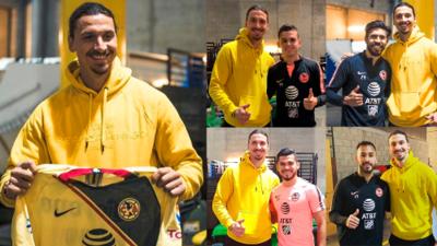 En fotos: los jugadores Americanistas aprovecharon su encuentro con Zlatan Ibrahimovic