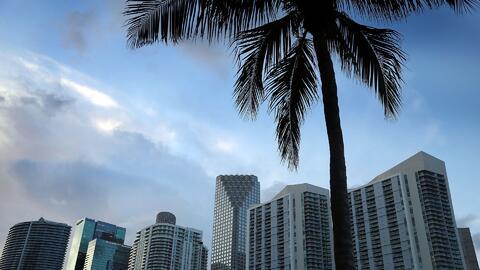 Una noche de viernes tranquila en Miami, con posibilidad de algunas nubes y aguaceros ligeros