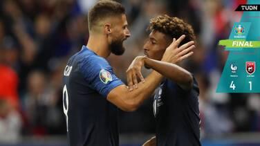 ¡Larga vida al Rey! Francia, sin problemas para golear a Albania