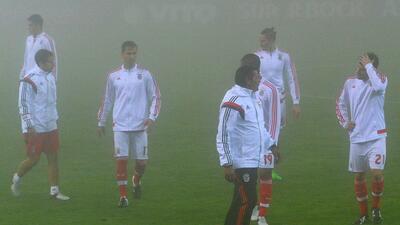 Por neblina el juego entre Nacional y Benfica fue aplazado