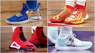 Dragon Ball y otros de los mejores diseños en los tenis de las estrellas de la NBA durante esta semana