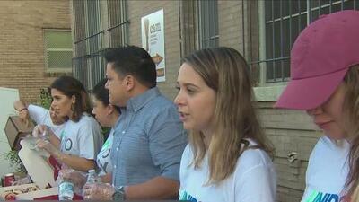 Univision 41 alimenta a cientos de personas sin hogar