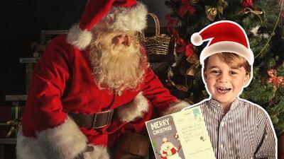 El hijo del Príncipe William y Kate, ya tiene su carta para Santa