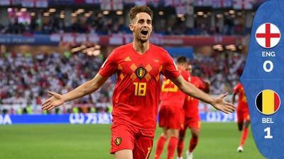 Bélgica venció 1-0 a Inglaterra y avanzó primero del grupo G