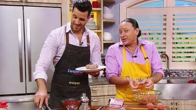 Elvis Crespo puso el sabor en nuestra cocina al preparar albóndigas caribeñas en salsa roja
