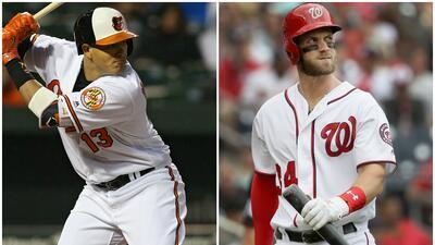 Bryce Harper y Manny Machado, elegidos como los mejores jugadores del mes en la MLB