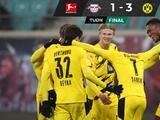 Dortmund vence al Leipzig con su tridente Haaland-Sancho-Reus