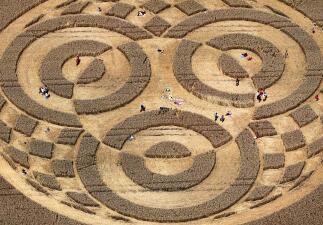 Círculos en cultivos: ¿obras de extraterrestres?