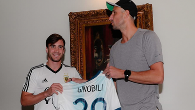 Manu Ginobili visits Argentina soccer team ahead of San Antonio game