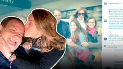Con un beso de amor Raúl de Molina inició su cumpleaños y luego llegaron los buenos deseos de muchas celebridades