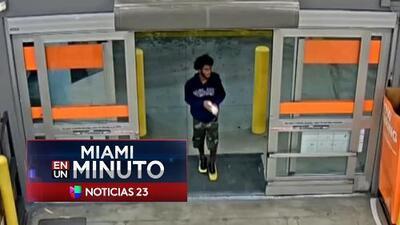 'Miami en un Minuto': autoridades buscan a un joven acusado de asaltar a una mujer en una tienda Home Depot de Hialeah
