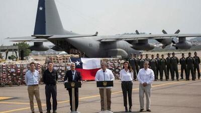 Un avión militar de Chile llega a Colombia con más ayuda humanitaria para Venezuela