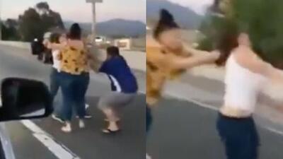 Los llamaron 'frijoleros' y se agarraron a puños en plena autopista de California