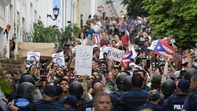 Puertorriqueños no bajan la guardia y mantienen las protestas para exigir la renuncia de Ricardo Rosselló