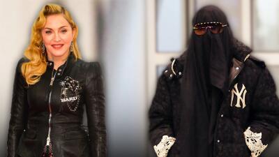 Madonna intenta pasar desapercibida con burka y lentes en un aeropuerto de Nueva York y el truco le sale al revés