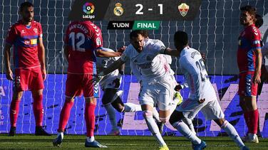 Benzema salva al Madrid ante el Elche en el regreso de Ramos