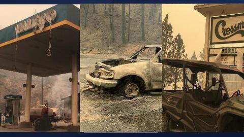 """""""Es un desastre sin precedentes"""": incendio Creek destruye zonas montañosas del centro de California"""