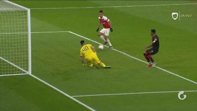 ¡DOBLETE de Aubameyang! Arsenal está eliminando al Rennes