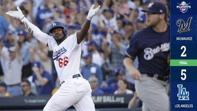 Los Dodgers ganan el Juego 5 y viajan a Milwaukee por el pase a la Serie Mundial