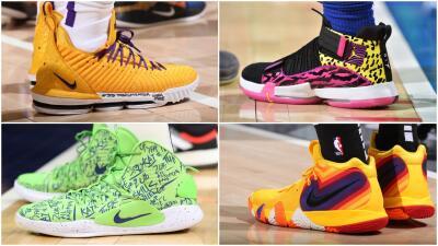 Las zapatillas más espectaculares que usaron las estrellas de la NBA esta semana