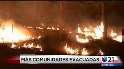 Más comunidades evacuadas debido a Incendio Ferguson