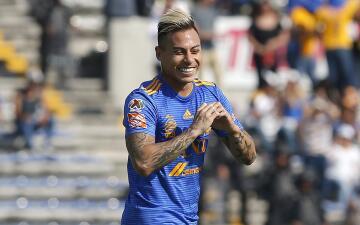En fotos: Tigres golea a Lobos BUAP con doblete del chileno Eduardo Vargas