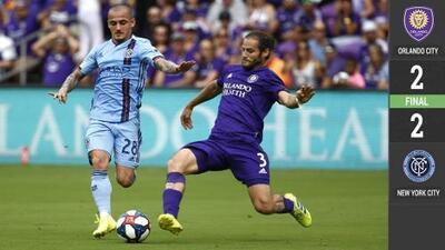 Tablas en Florida: en el debut de Nani en MLS, Orlando y NYCFC igualaron 2-2