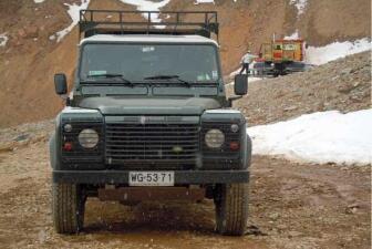 Land Rover Defender en Los Andes