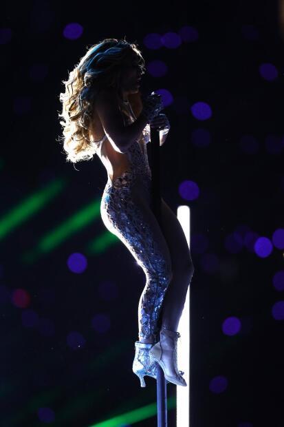 Además, López recordó la parte de su show en el Super Bowl donde hizo una demostración de  <b>pole dance</b>.
