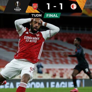¡De alarido! Slavia Praga arrebata agónico empate al Arsenal