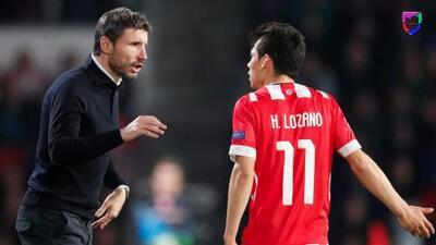 """DT del PSV rectifica tras polémica con Chucky Lozano: """"No fue desobediencia"""""""